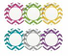 CHEVRON Range of PAPER PLATES - Pack of 8 - 23cm {Unique} (Tableware/Birthday)