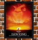 Framed The Lion King Movie / Film Poster A4 / A3 Size In Black / White Frame