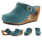 Sanita Randy Women's Wood Open-back Comfort Clogs Shoes