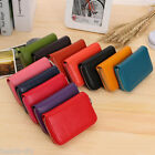 BD Womens Fashion Genuine Leather Zipper Credit Card Case Wallet Holder Purse