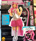Monster High Catty Noir 13 Wishes Child Cosutme 4-6 8-10 NIP