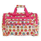 "World Traveler Owl 16"" Shoulder Duffle Bag 3 Colors Rolling Duffel NEW"
