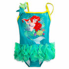 Disney Store Princess Ariel 1PC Deluxe Swimsuit Girl Size 2 3 4 5/6 7/8
