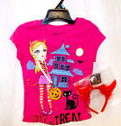Hot Pink Halloween Devil Tshirt Devil Horn Headband S M L XL NWT