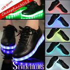 Unisex USB Charger LED Lights Lace Up Luminous Sportswear Casual Shoes Sneaker
