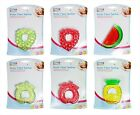 Brand New in Packaging Fruit Water Filled Teether 6 Assorted Designs