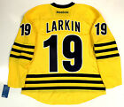 DYLAN LARKIN MICHIGAN WOLVERINES MAIZE REEBOK HOCKEY JERSEY NEW RED WINGS