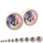 Galaxy Anchor Glow in the Dark Acrylic Ear Plug Pair