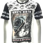 mk35 Minute Mirth T-shirt Tattoo LTD SPECIAL TECHNIQUE Rose Ghost X'mas Gift Tee