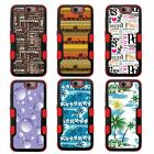 For LG K10 NATURAL TUFF Hybrid Rubber Hard Snap-on Case Red Black 5Colors