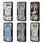 For Galaxy S7 Edge TUFF Hybrid Stand Rubber Hard Case Black Black 4Colors
