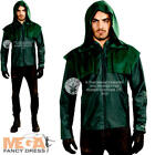 Deluxe Green Arrow Mens Fancy Dress Superhero Comic DC Teen Adults Costume New