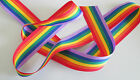 10mm 15mm 25mm 35mm GROSGRAIN RAINBOW RIBBON GAY PRIDE RIBBONS