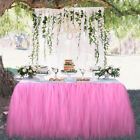 TUTU Tulle Table Skirt For Wedding Party Birthday Baby Shower Table Decoration