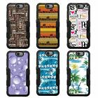 For Grand X 3 NATURAL TUFF Hybrid Rubber Hard Case Black Black 5Colors
