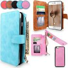 Luxury Leather Removable Wallet Flip Card Case Cover for Apple iPhone 6 6S Plus
