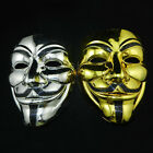 mask guy fawkes - Gold/Silver V for Vendetta Guy Fawkes Mask Anonymous Halloween Cosplay Costumes