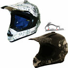 Duchinni D305 MX Helmet Motocross Motorcycle Motoribke Black White Graphic