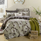 100%Cotton King Bed Size Quilt Doona Duvet Cover Pillowcase Set New Double/Queen