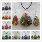 Wonderful Mixed Stone Earrings & Necklace Set LX174(Randomly send )