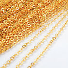 """16"""" Gold Plated Copper Brass Finish Flat Cable Chain Connector Necklace Findings"""