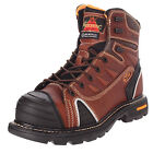 "Thorogood Men's Brown 6"" Lace-to-Toe Composite Safety Toe Work Boots, 804-4445"