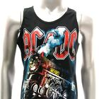 Sz M L XL AC/DC Angus Young Sleeveless Vest T-shirt Black Music Many Size vac2