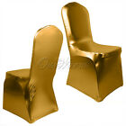 12 Wedding Bronzing Elastic Spandex Chair Cover Party Banquet Decor Gold/Silver