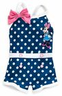 BABY Navy  White Polka Dot MiNNiE MoUsE InFant 1pc SWIM SUIT NWT Disney Store