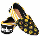 Pittsburgh Steelers 2016 Womens Canvas Stripe Shoes