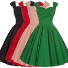 Fashion Women VINTAGE 50s 60s Retro Swing Cocktail GOWN Party Homecoming Dress