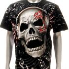 r187 Rock Eagle T-shirt SPECIAL Tattoo Skull Ghost Music Men Punk Headphone Tee