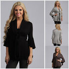 Substantial Hot Females Spring Seven Horn Sleeve Coat Long sleeve Tops Pretty