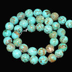 4,6,8,10,12mm Natural Turquoise Gemstone Round Beads 16""