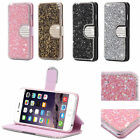 Bling Glitter Diamond Crystal Wallet Cards Magnetic PU Leather Case Cover