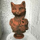 Cat Garden Ornament Bust stone statue original exclusive design Lady Kitty©
