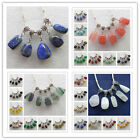 8pcs Mixed Stone Pendant Fit European Bracelet Necklace xx61