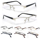 Man Women Metal Frame Semi Rimless Clear Lens Reading Glasses - 4 Color RE75