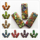 3PCS Beautiful Mixed Stone Oblong Pendant bead XX052(Randomly send )