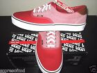Vans Era 59 Canvas & Chambray Chili Red Skate Boat shoes size 10.5 VN-0UC6AT8