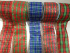 ELEGANZA 'TARTAN' wire edged ribbon - 5 designs, available in 4 lengths NEW LINE