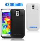 4200MAH PORTABLE EXTERNAL BATTERY CHARGER CASE POWER PACK BACKUP FOR SAMSUNG S5