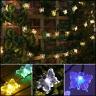 SOLAR POWERED OUTDOOR GARDEN DECKING WEDDING PARTY BUTTERFLY FAIRY STRING LIGHTS