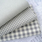 ELEPHANT GREY - VINTAGE KENT 2 YARN DYED GINGHAM - COTTON FABRIC cream ground