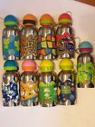 Funky Metal Silicone Drinks Bottle Flask Frog Butterflies Abstract Leopard Anima