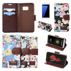 China Floral Print PU Leather Back Stand Phone Pouch Cover Case For Mobile Phone