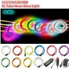 1/2/3/4/5/8/20M Led Flexible EL Tube Wire Neon Glow Light Controller Battery USB
