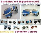 New Classic S/M Unisex Aviator Sun-Glasses Silver Mirror UV Polarized or No-Pola
