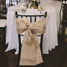 1/10 Burlap Chair Sashes Bowknot Wedding Event Party Rustic Chair Cover Tie DIY