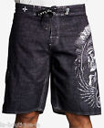 Affliction - THUNDERFOOT - Men\'s Boardshorts Swim Trunks - Shorts - NEW - Black